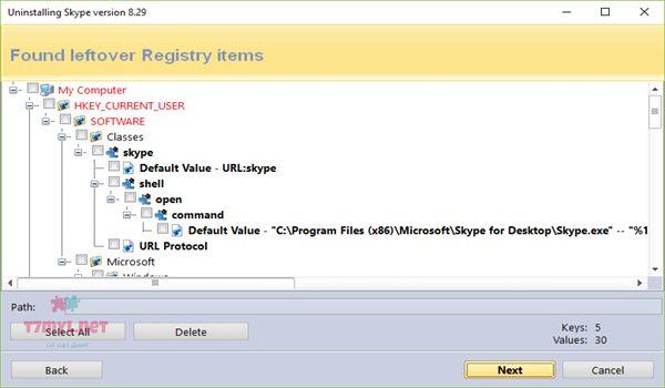 حذف البرامج من جذورها ويندوز 10