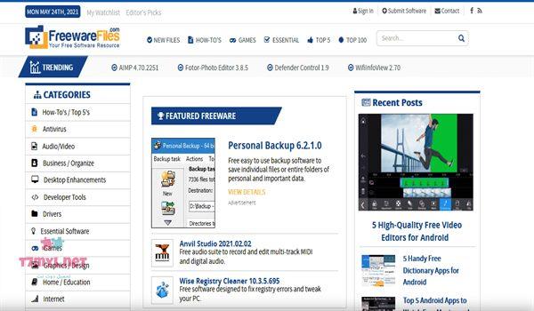 موقع freeware files لتحميل البرامج مجانا